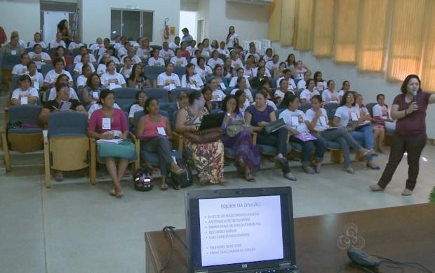 As agricultoras trocaram experiências durante o seminário. (Foto: Bom Dia Amazônia)