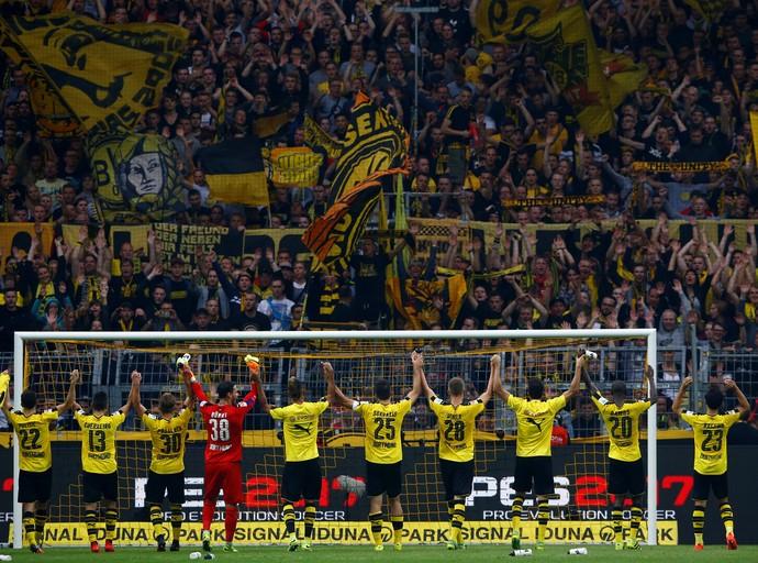 Borussia Dortmund Muralha Amarela Freiburg (Foto: Reuters)
