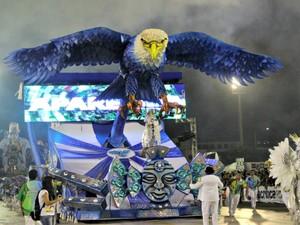 Abre alas da Escola de Samba Aparecida (Foto: Ive Rylo/G1 AM)
