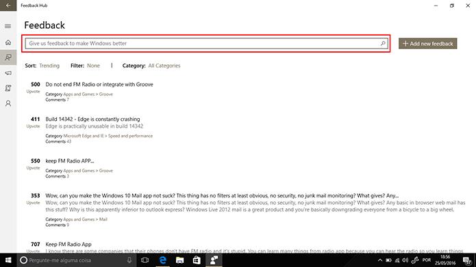 Usuário deve procurar por reclamações iguais às suas antes de postar (Foto: Reprodução/Elson de Souza)