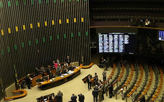 Plenário da Câmara vota denúncia contra Temer e ministros (Foto: José Cruz/Agência Brasil)