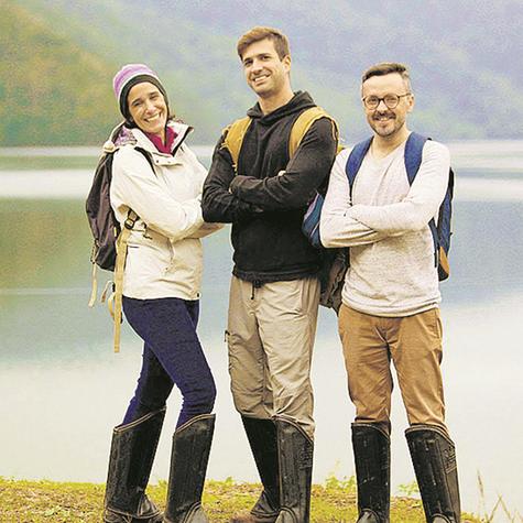 Mayra, Aruay e Anderson são os apresentadores da série 'Terra Brasil' (Foto: Divulgação)