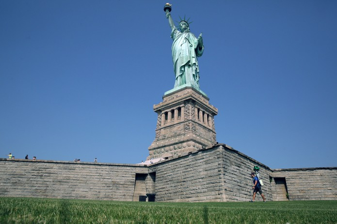 Conheça a tecnologia que disponibilizará as fotos da Estátua da Liberdade no Street View (Foto: Reprodução/The New York Times)