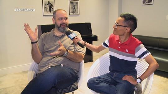 #Zapp: Em clima de nostalgia, Diego Araújo bate papo com ex-repórter do 'Dica Virtual'