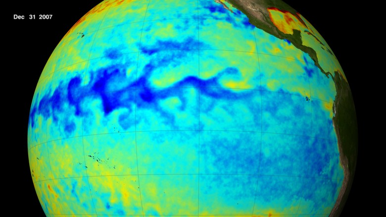 la-nina-nasa-globo-resfriamento-clima-sustentabilidade (Foto: NASA/CCommons)