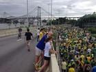 Florianópolis e cidades de SC registram atos na tarde de domingo