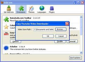 Configurações Easy YouTube Video Downloader