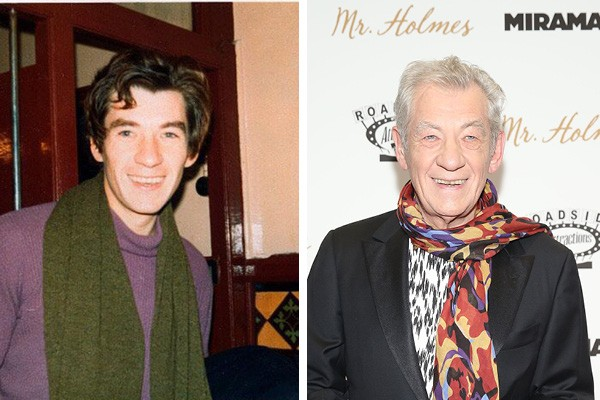 Ian McKellen em 1970 e em 2015 (Foto: Twitter / Getty Images)