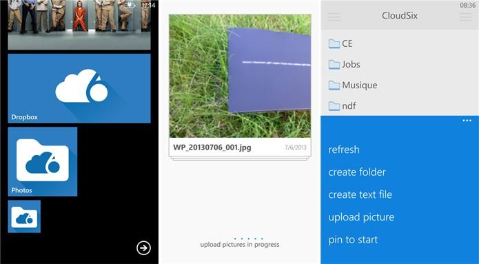 CloudSix traz todas as funcionalidades do Dropbox e recursos exclusivos para Windows Phone (Foto: Divulgação/Windows Phone Store)