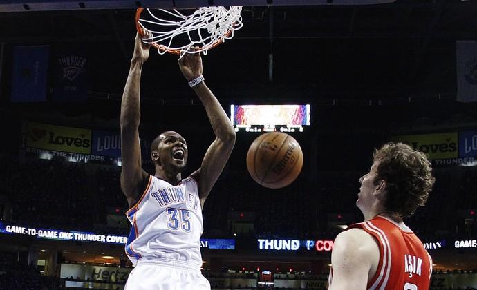 Kevin Durant, na vitória sobre o Houston Rockets (Foto: AP)