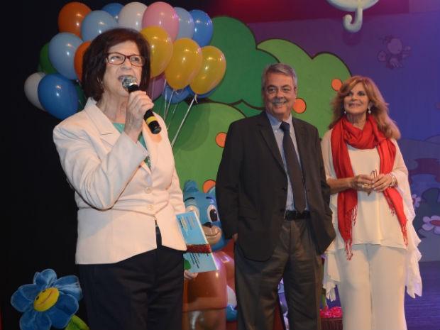 A presidente do FSS, Maria Inês Moron Pannunzio, durante o evento (Foto: Emerson Ferraz)