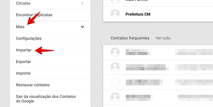 Importando contatos no Gmail  (Foto: Reprodução/Helito Bijora)