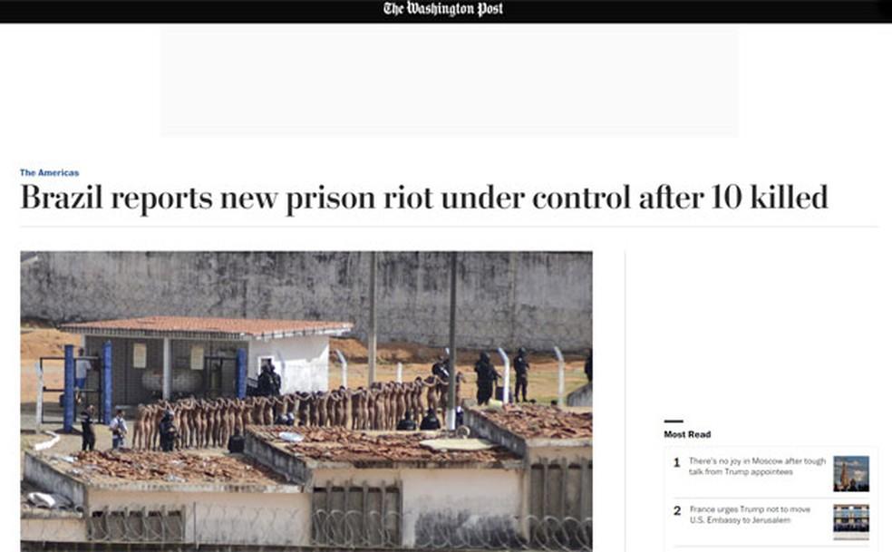'The Washington Post' aponta 10 mortes (Foto: Reprodução/Washington Post)