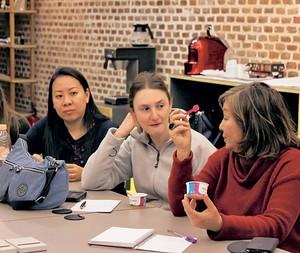 Os leitores aprenderam a calcular os ingredientes para uma boa massa de sorvete (Foto: Olivia Fraga/Editora Globo)