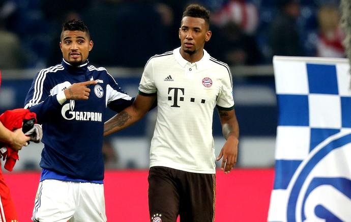 Kevin-Prince Boateng Schalke 04 e Jerome Boateng bayern de munique (Foto: Agência Getty Images)