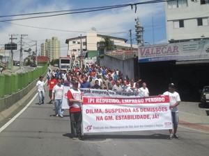 Assembleia sindicato dos metalúrgicos de São José dos Campos - GM - 2 (Foto: Renato Ferezim/G1)