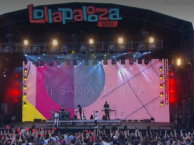 Tegan and Sara, no Lollapalooza (Foto: Multishow)