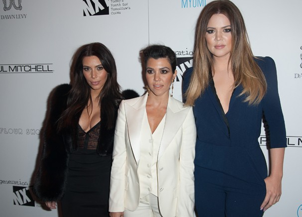 Kim Kardashian, Khloé Kardashian e Kourtney Kardashian (Foto: Getty Images)