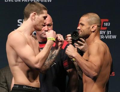encarada, Thiago Alves x Jordan Mein, UFC 183 (Foto: Evelyn Rodrigues)