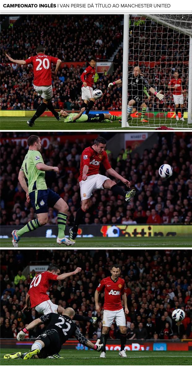 Mosaico Gols Van Persie Manchester United (Foto: Reuters)