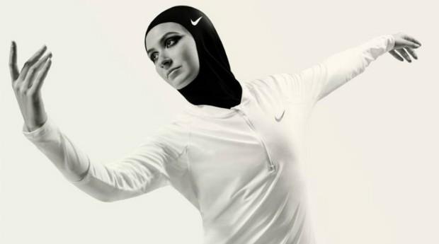 O hijab de alta tecnologia foi criado pela Nike para que os atletas possam cumprir com a prática islâmica sem comprometer o desempenho (Foto: Divulgação)