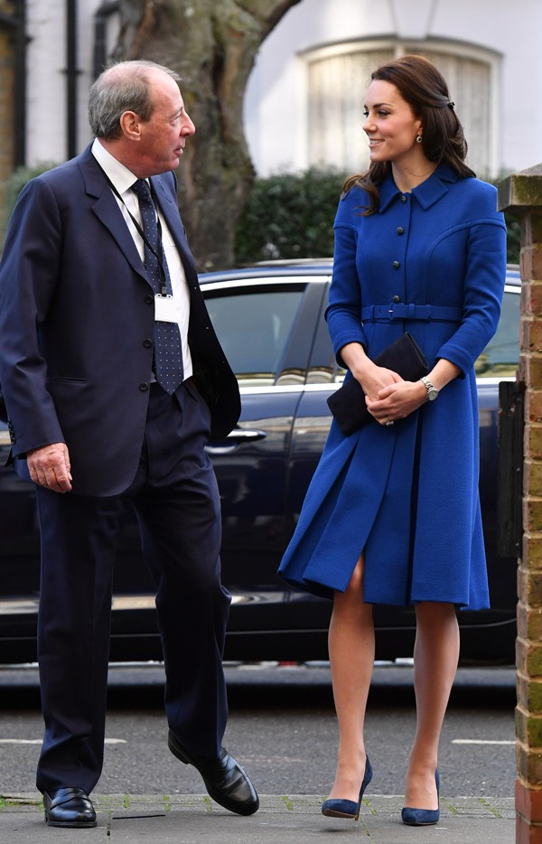 Kate Middleton e Peter Fonagy, CEO do centro Anna Freud  (Foto: Getty Images)