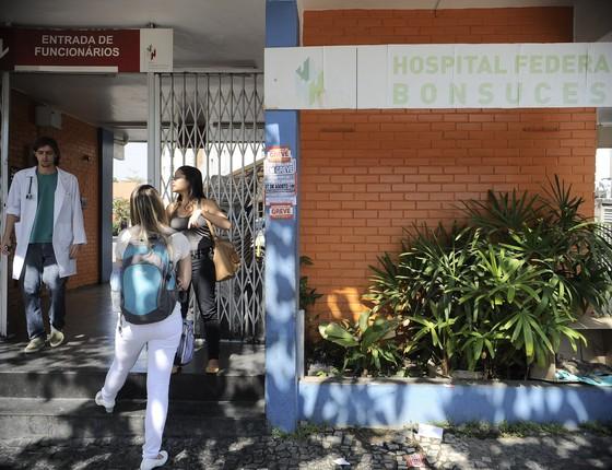 Hospital Federal de Bonsucesso, na zona norte do Rio de Janeiro (Foto: Tânia Rêgo/ Agência Brasil)