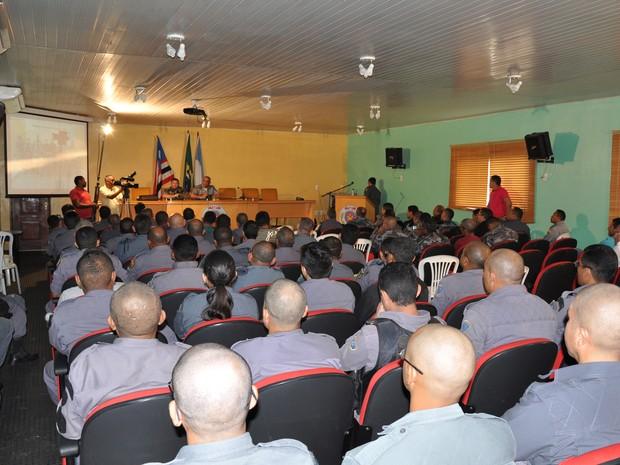 Aula inaugural do curso de força tática da Polícia Militar (Foto: Divulgação/Ascom)