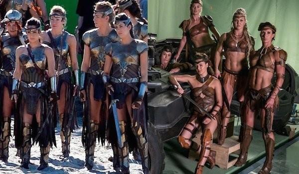 As amazonas do filme da Mulher-Maravilha e do longa da Liga da Justiça (Foto: Reprodução)