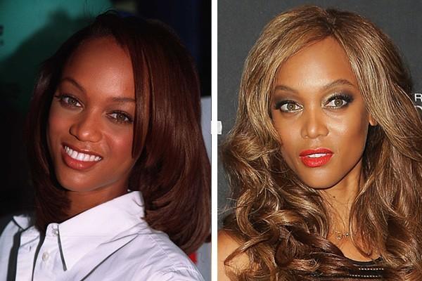 Tyra Banks em 1997 e em 2014 (Foto: Getty Images)