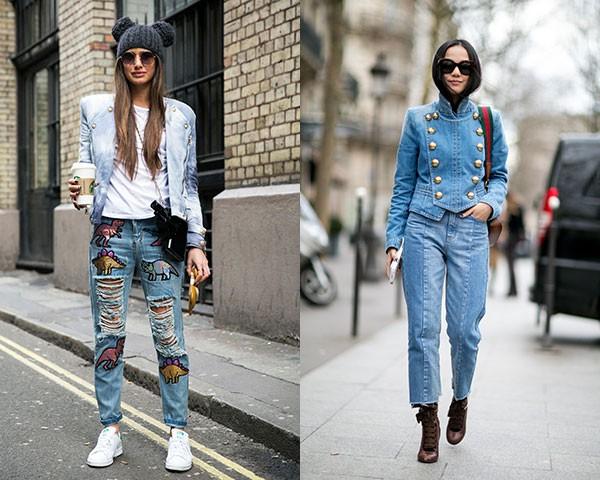 A jaquetinha tipo Balmain ainda faz sucesso entre as fashionistas (Foto: Imaxtree)