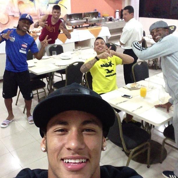 Neymar Concentração Santos Instagram (Foto: Reprodução / Instagram)
