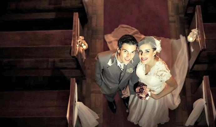 Bárbara Körbes Hartmann e Felipe Machado da Silva, de Portão (Foto: Gustavo Lemmertz/Divulgação)