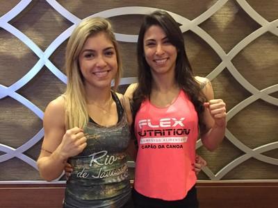 Bruna Ellen e Bruna Vargas Bellator MMA (Foto: Reprodução/Twitter)