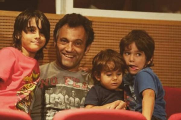 Domingos Montagner com os filhos (Foto: Reprodução / Instagram)