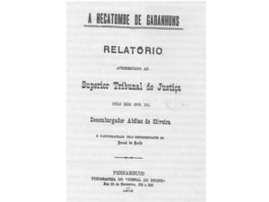 Relatório da hecatombe foi apresentado ao Supremo Tribunal de Justiça (Foto: Acervo pessoal/Cláudio Gonçalves)