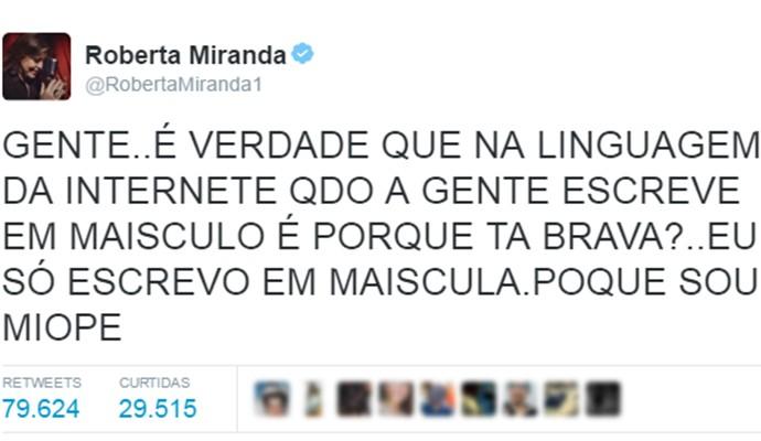 Roberta Miranda sem limites com maiúsculas também é hit (Foto: Reprodução Internet)