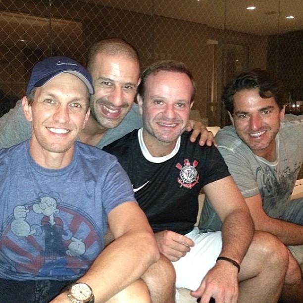 Тони Канаан, Luciano Burti, Рубенс Баррикелло ужин (Фото: Воспроизведение/Instagram)