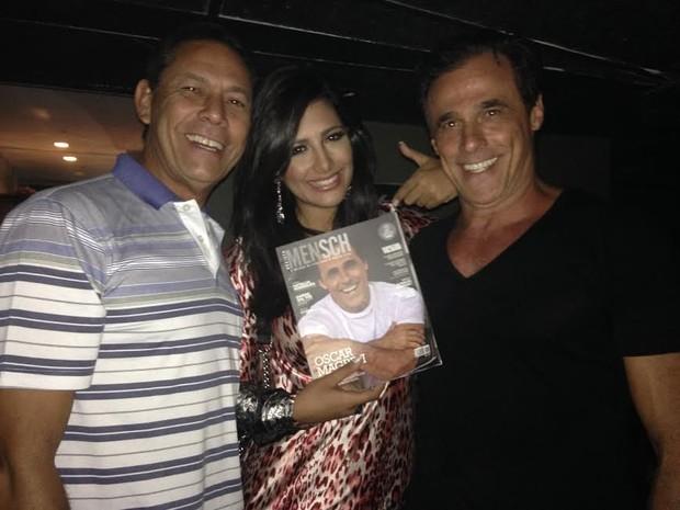 Sylvio Guerra, Mari Silvestres e Oscar Magrini (Foto: Divulgação/Divulgação)
