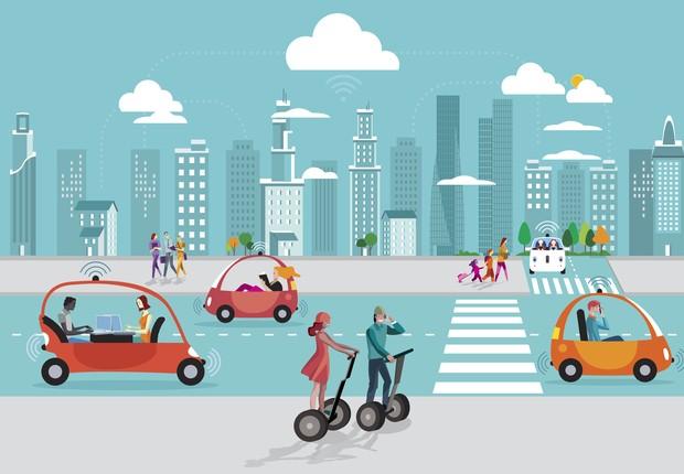 sociedade do futuro, carros autônomos, tecnologia (Foto: Thinkstock)