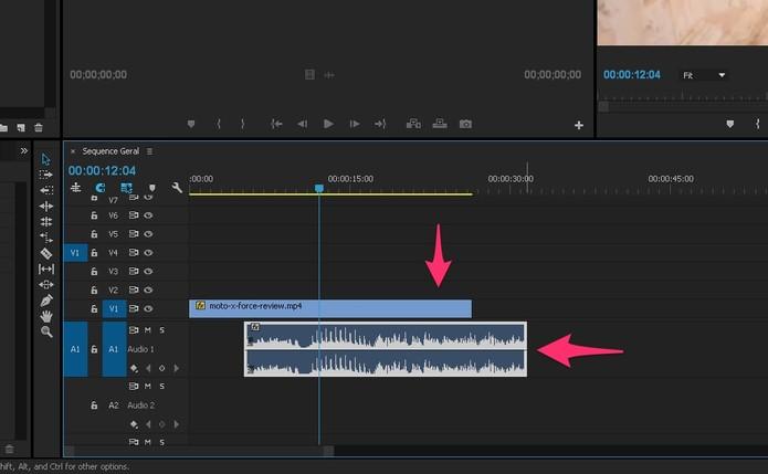 Edite o vídeo e o áudio separadamente (Foto: Reprodução/Lucas Mendes)