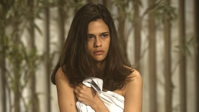 Aline fica sem argumentos após Luciane expor gravação (Foto: TV Globo)