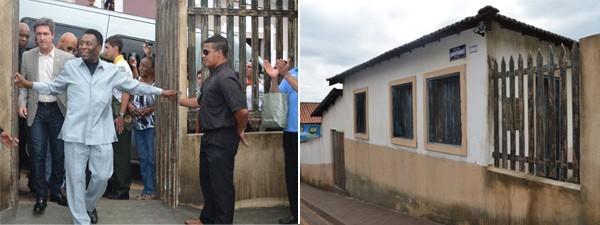 Pelé visitou réplica de casa onde viveu, alvo de operação da PF (Foto: Divulgação Polícia Federal)