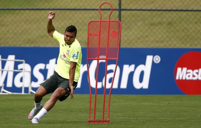Casemiro treino seleção brasileira (Foto: EFE)