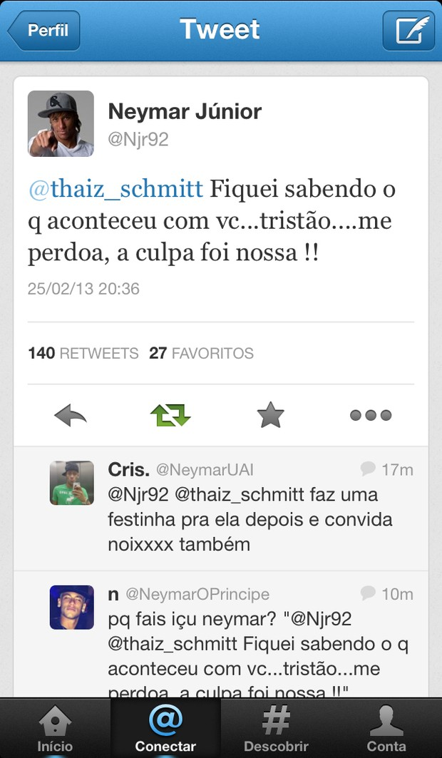 Neymar (Foto: Twitter/Reprodução)