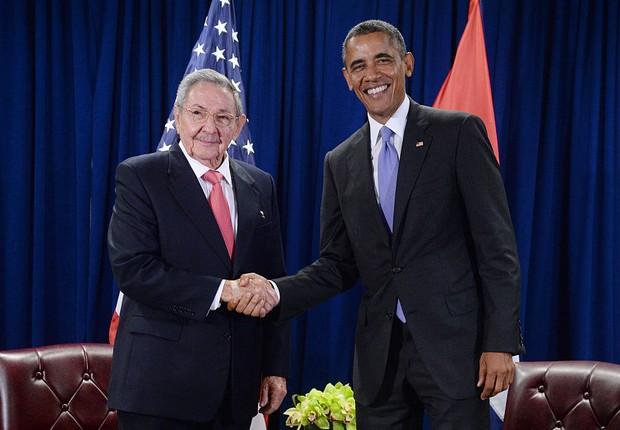 Encontro de Raul Castro e Obama em Cuba (Foto: Pool/Getty Images)