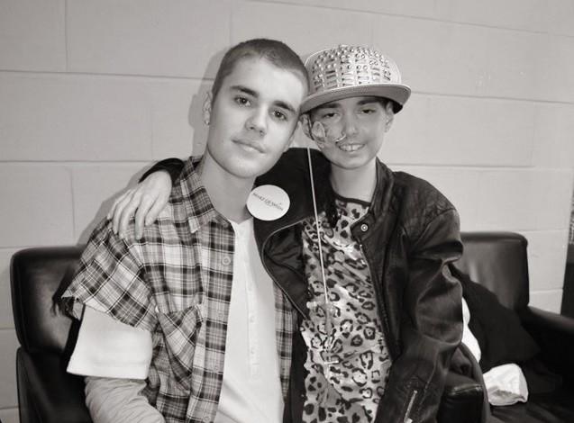 Sonho realizado: Justin Bieber e Karlee se conheceram em Boston, em maio (Foto: Reproduo)