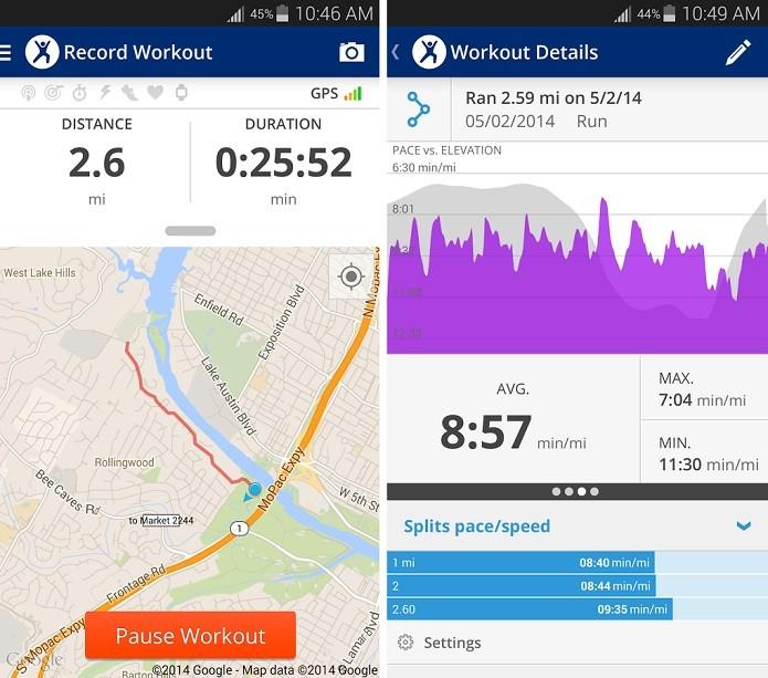 MapMyFitness é um app que monitora exercícios de quem pratica atividades físicas (Foto: Divulgação/MapMyFitness)
