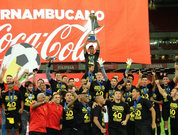 sport campeão pernambucano 2014 (Foto: Aldo Carneiro / Pernambuco Press)