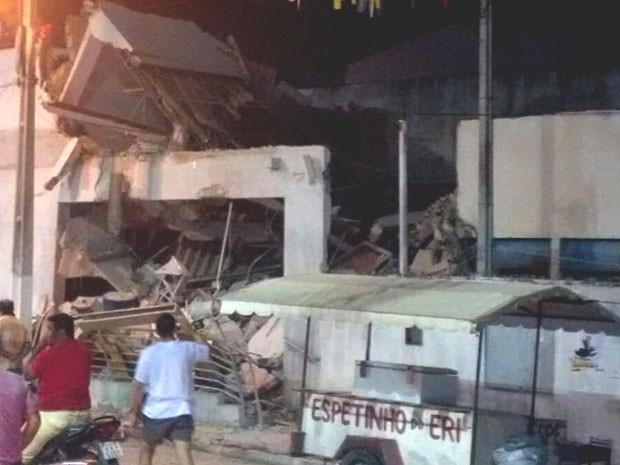 Em Afonso Bezerra, agência do Banco do Brasil ficou destruída (Foto: Divulgação/PM)